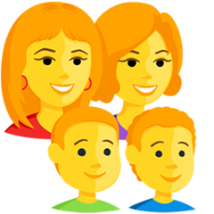 Family: Woman, Woman, Boy, Boy Emoji in Messenger