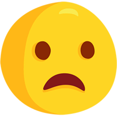 Frowning Face With Open Mouth Emoji in Messenger