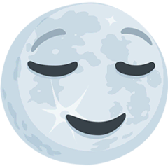 Full Moon Face Emoji in Messenger