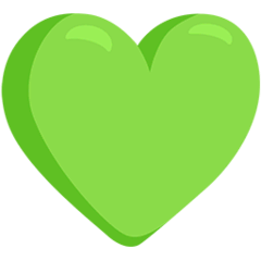 Green Heart Emoji in Messenger