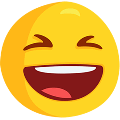 Grinning Squinting Face Emoji in Messenger