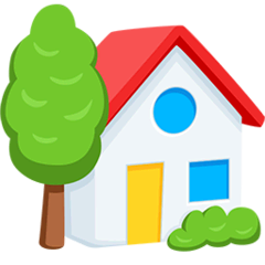 House With Garden Emoji in Messenger