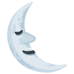 Last Quarter Moon Face Emoji in Messenger