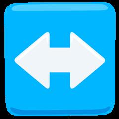 Flecha hacia la izquierda y la derecha Emoji Messenger