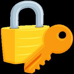 Cadeado fechado com chave Emoji Messenger