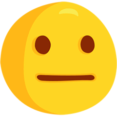 Neutral Face Emoji in Messenger