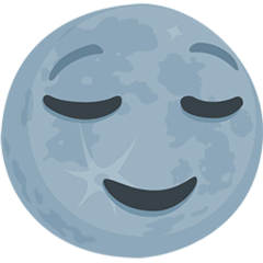 New Moon Face Emoji in Messenger