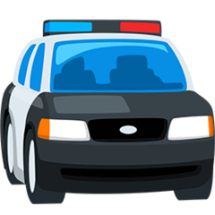 Oncoming Police Car Emoji in Messenger