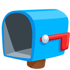Open Mailbox With Lowered Flag Emoji in Messenger