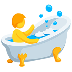 Person in Badewanne Emoji Messenger