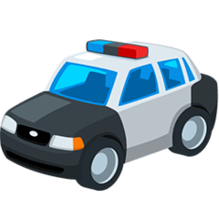 Police Car Emoji in Messenger