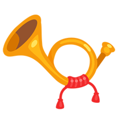 Postal Horn Emoji in Messenger