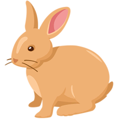 Rabbit Emoji in Messenger