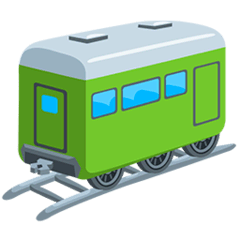 Wagon de train Émoji Messenger