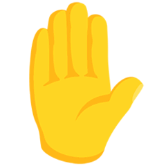Raised Hand Emoji in Messenger
