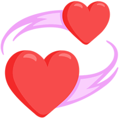 Revolving Hearts Emoji in Messenger