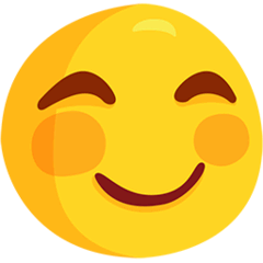 Smiling Face With Smiling Eyes Emoji in Messenger