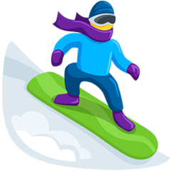 Snowboarder Emoji in Messenger
