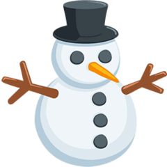 Snowman Without Snow Emoji in Messenger