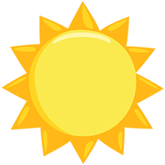 Sun Emoji in Messenger