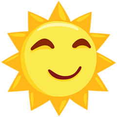 Sun With Face Emoji in Messenger