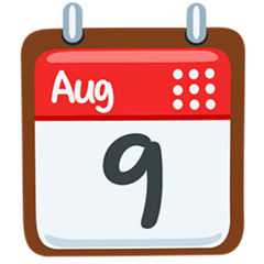 Calendario recortable Emoji Messenger