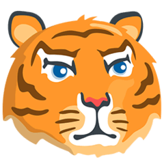 Tiger Face Emoji in Messenger