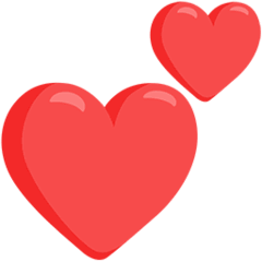 Two Hearts Emoji in Messenger