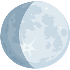 Waxing Gibbous Moon Emoji in Messenger