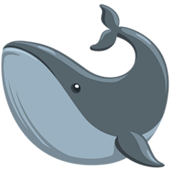 Whale Emoji in Messenger