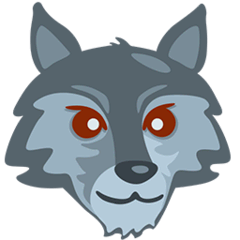 Wolf Emoji in Messenger