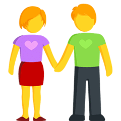 Woman And Man Holding Hands Emoji in Messenger