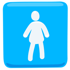 Women's Room Emoji in Messenger