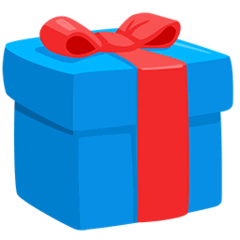 Wrapped Gift Emoji in Messenger