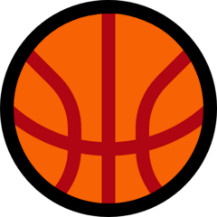 Pelota de baloncesto Emoji Windows