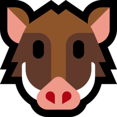 Boar Emoji on Windows
