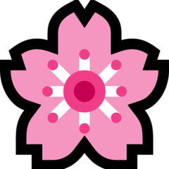 Flor de cerezo Emoji Windows