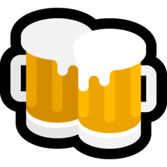 Clinking Beer Mugs Emoji on Windows