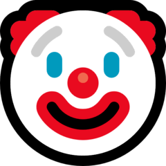 Clown Face Emoji on Windows