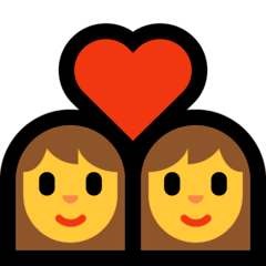 Due donne con cuore Emoji Windows