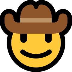 Cara de cowboy Emoji Windows
