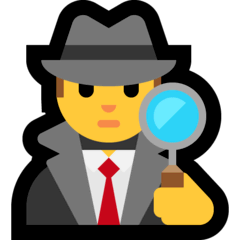 Detective Emoji on Windows