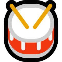 Drum Emoji on Windows