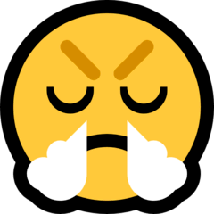 Face With Steam From Nose Emoji on Windows
