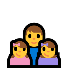 Family: Man, Girl, Girl Emoji on Windows