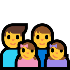 Family: Man, Man, Girl, Girl Emoji on Windows