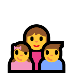 Family: Woman, Girl, Boy Emoji on Windows