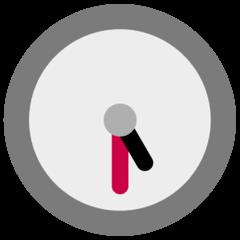 Fünf Uhr dreißig Emoji Windows