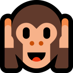 Hear-no-evil Monkey Emoji on Windows