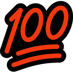 100-Punkte-Symbol Emoji Windows